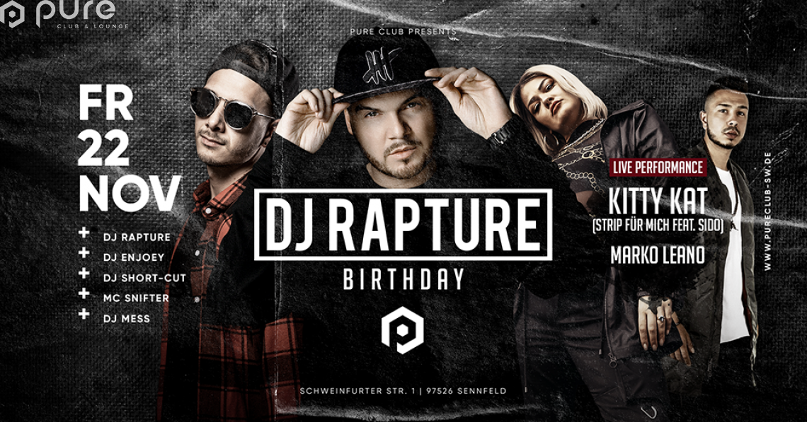 DJ Rapture Birthday Party feat. Kitty Kat & Marko Leano